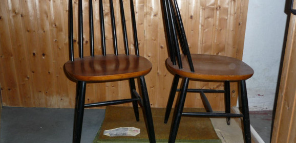 Drei Asko Ilmari Tapiovaara Stühle Dining Chairs – Kopie?