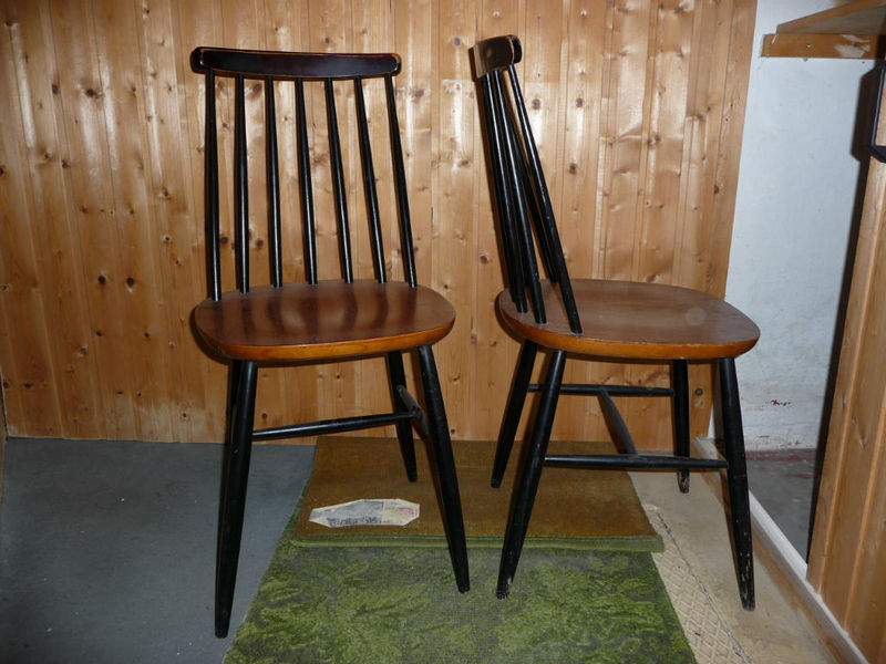 Drei Asko Ilmari Tapiovaara Stühle Dining Chairs Kopie