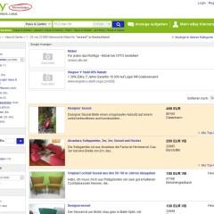 Suchbegriffe bei Ebay-Kleinanzeigen