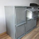 Anrichte im Industriedesign Industrial Sideboard aus Metall/Alu plus Schreibtisch – geschenkt
