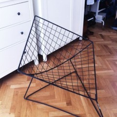 Wire Chair im Stil von Harry Bertoia Knoll International Drahtsessel
