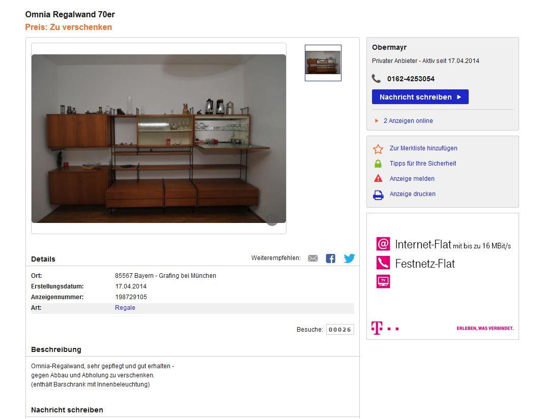 omnia wall unit regal im stil von nisse strinning string. Black Bedroom Furniture Sets. Home Design Ideas