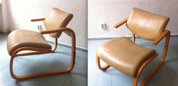 60er Jahre Ledersessel vermutlich Alvar Aalto für Finmar Artek Finnland