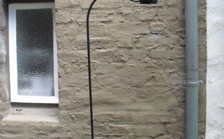 Metall-Stehlampe 70er Schwanenhals-Stehleuchte
