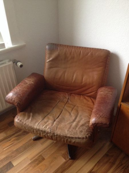 de sede ds 31 lounge chair ledersessel in cognac ebay. Black Bedroom Furniture Sets. Home Design Ideas