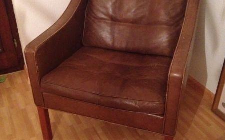 Borge Mogensen für Fredericia Furniture Denmark Modell 2207 60er Ledersessel