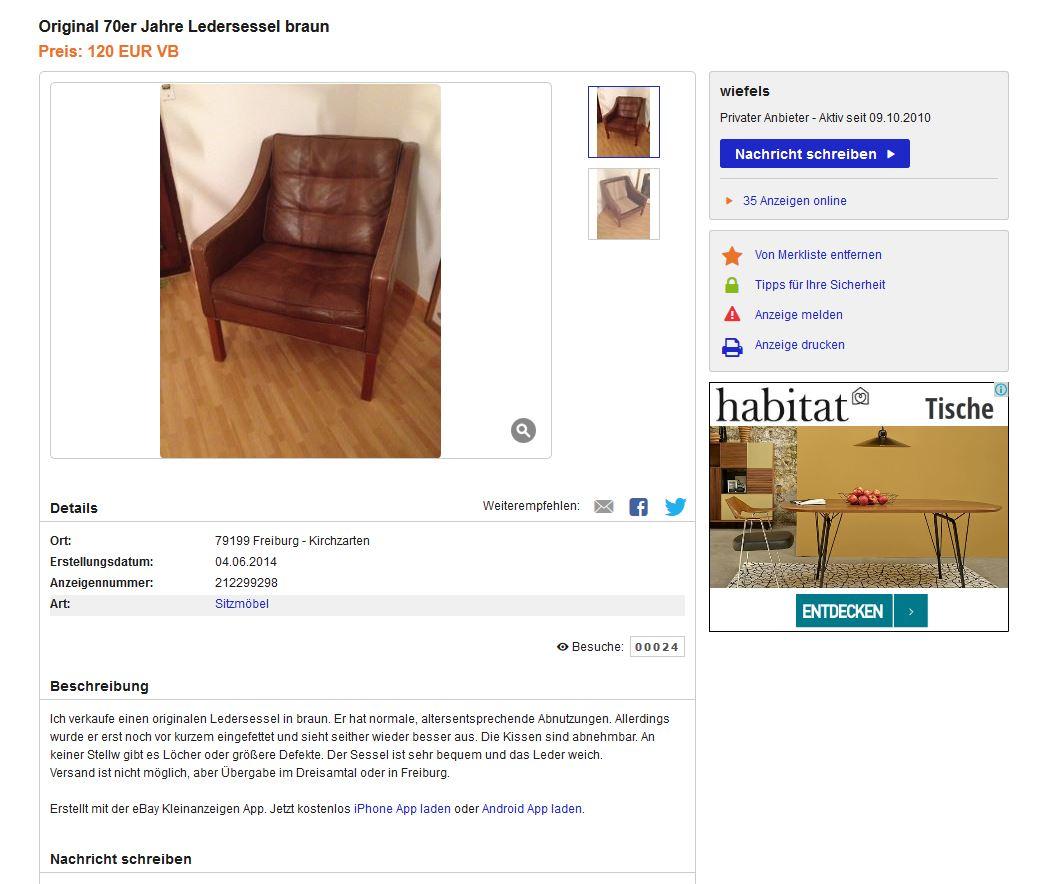 BØRGE MOGENSEN M2207 Sessel LEDER Leather EASY CHAIR Armchair