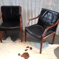 Zwei Walter Knoll Art Collection Konferenzstühle Lederstühle