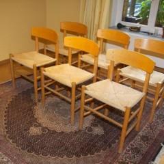 Børge Mogensen Shaker Chairs J39 für FDB Møbler 6er Set Dining Stühle