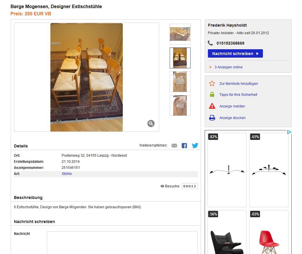 b rge mogensen shaker chairs j39 f r fdb m bler 6er set dining st hle ebay kleinanzeigen mit. Black Bedroom Furniture Sets. Home Design Ideas