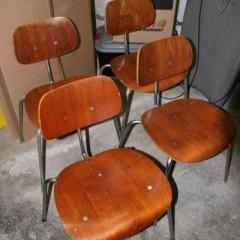 Egon Eiermann für Wilde & Spieth SE 68 4 Teak Stühle