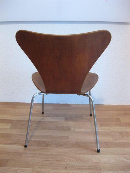 Fritz Hansen Arne Jacobsen Stuhl 3107 Serie 7 Teak Vintage