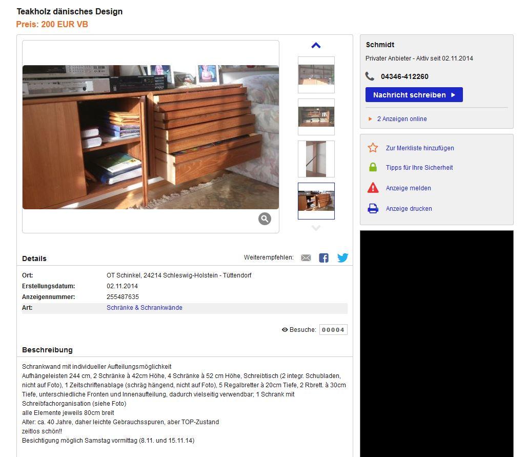 poul cadovius cado royal system wall unit danish design 50er 60er wandregal ebay kleinanzeigen. Black Bedroom Furniture Sets. Home Design Ideas