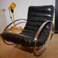 Vintage Rocking Chair Hans Kaufeld Milo Baughman Style