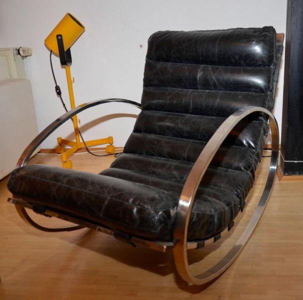 Zwei Vintage Schaukelsthle Rocking Chairs Im Stile Von