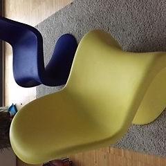 Verner Panton für Vitra Panton Chair 60er Stühle