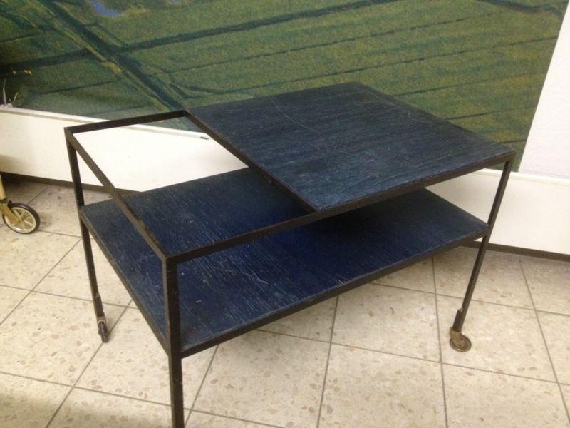 servierwagen beistellwagen barwagen von herbert hirche f r. Black Bedroom Furniture Sets. Home Design Ideas