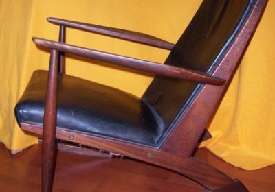 Søren Georg Jensen für Tønder Møbelværk Schaukelstuhl Rocking Chair 60er Danish Design