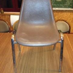 11 Fiberglas Stapelstühle Stühle Sulo Orly Side Chair Pollak Eames Ära