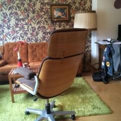 Stoll Giroflex Bürostuhl Office Chair 70er Vintage mit Holzlehne Eames Lounge Stil