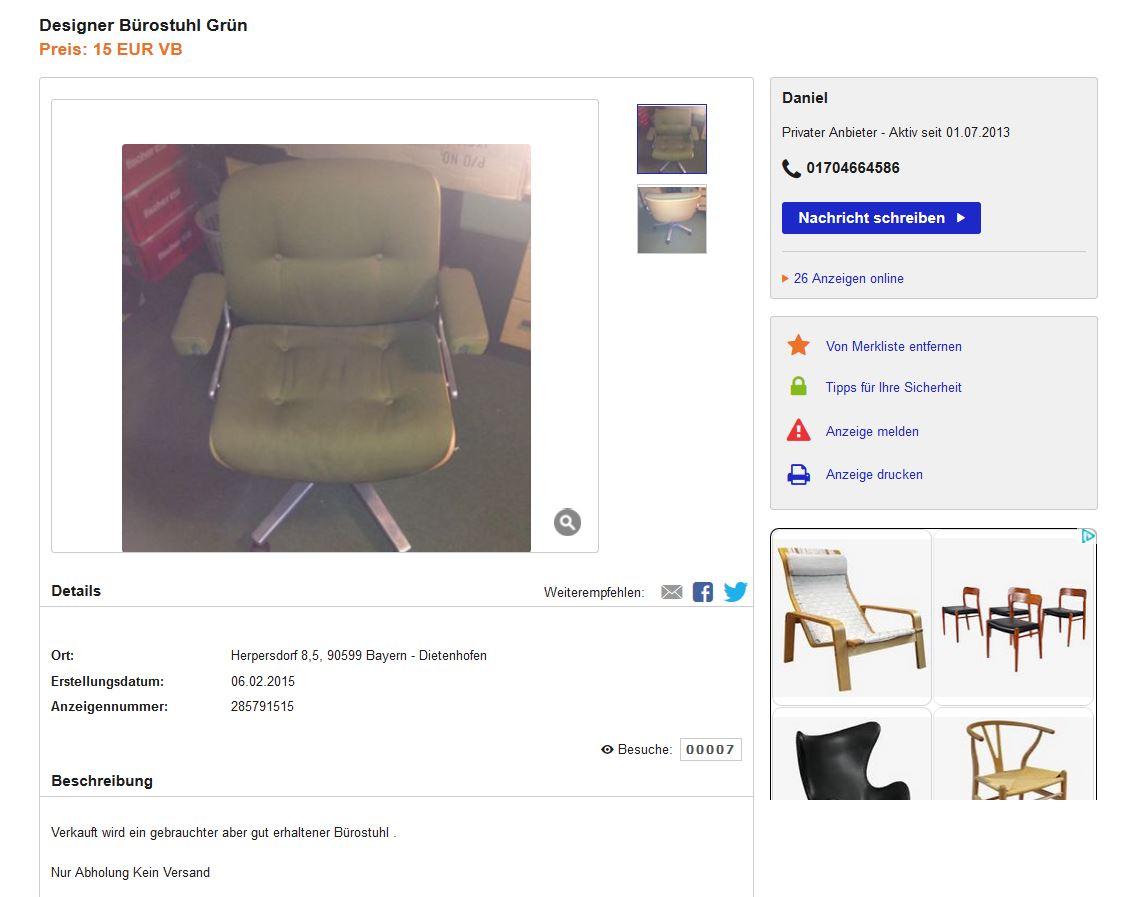stoll giroflex b rostuhl office chair 70er vintage mit holzlehne ico parisi stil ebay. Black Bedroom Furniture Sets. Home Design Ideas