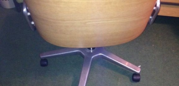 Stoll Giroflex Bürostuhl Office Chair 70er Vintage mit Holzlehne Ico Parisi Stil