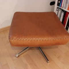 De Sede Ottomane Lederhocker für DS-31 Lounge Chair in cognac