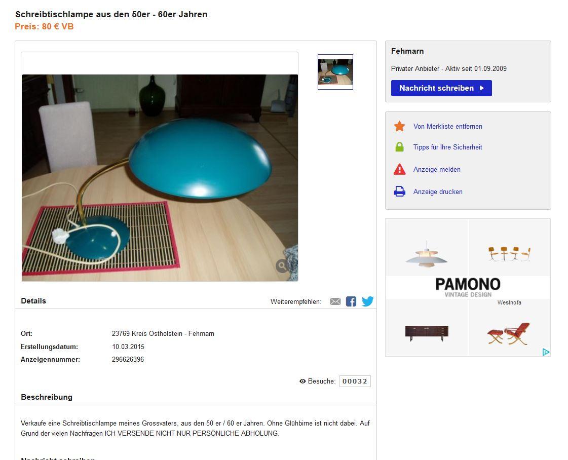 kaiser idell modell 6781 design von christian dell. Black Bedroom Furniture Sets. Home Design Ideas