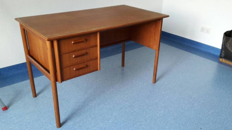 50er jahre schreibtisch desk teak danish modern design arne vodder b rge mogensen stil ebay. Black Bedroom Furniture Sets. Home Design Ideas