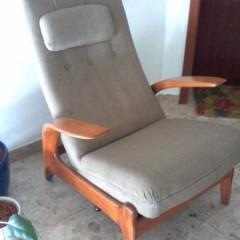 Gimson & Slater Lounge Chair Polstersessel Kirschholz Vintage 50er Sessel