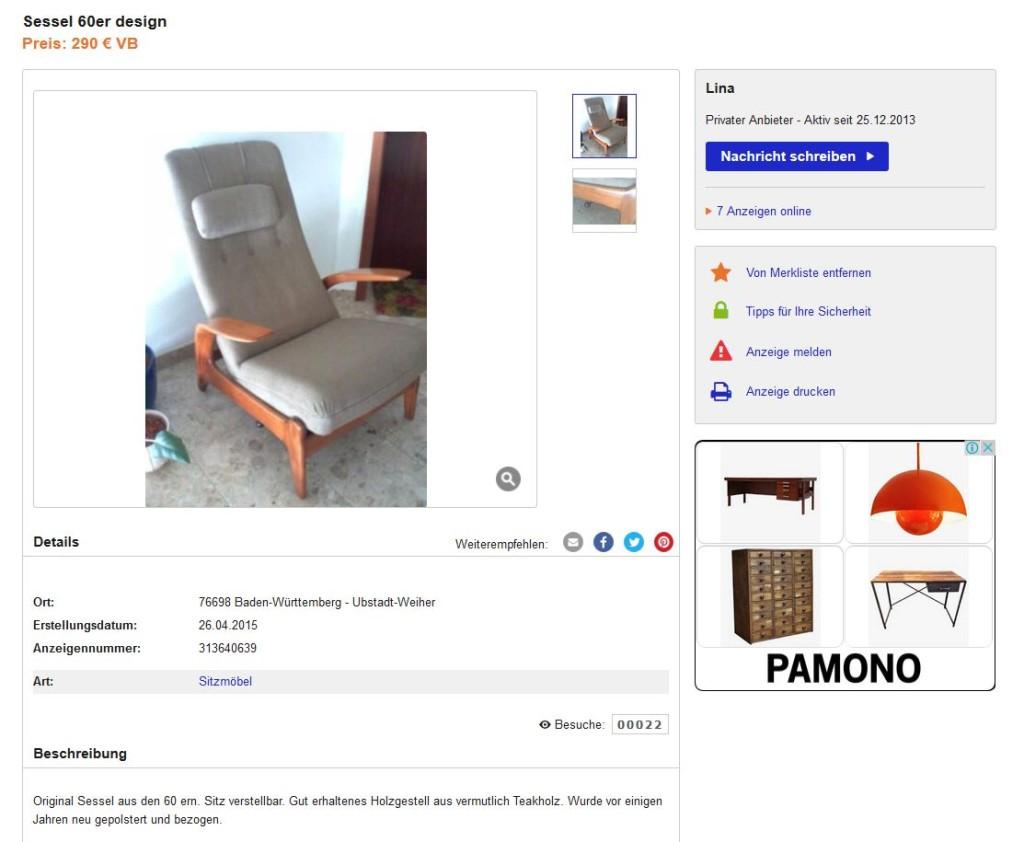 Gimson slater lounge chair polstersessel kirschholz for Ebay kleinanzeigen schaukelstuhl