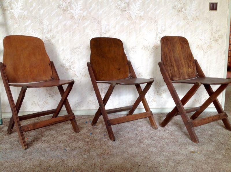 Klappstuhl designklassiker  Drei Klappstühle Folding Chairs 40er 50er Jahre Vintage American ...