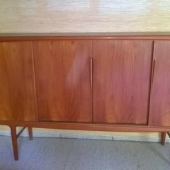 Sideboard Gunni Omann für Axel Christensen Highboard Danish Design 60er Jahre Teak