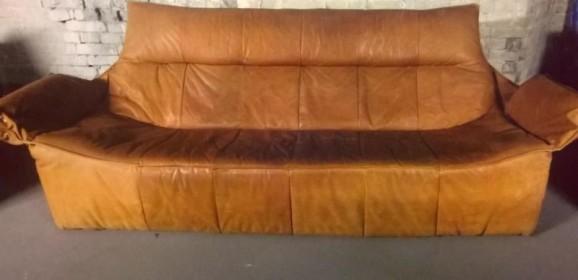 Montis Ledersofa und zwei Sessel Design Gerard van den Berg 70er Vintage Holland