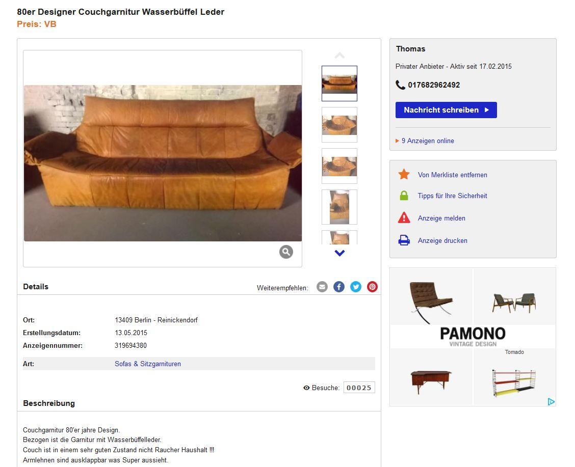 Montis Ledersofa Sessel Vintage Design Gerard Van Den Berg 70er Holland 2 Ebay Kleinanzeigen Mit Stil Ebay Kleinanzeigen Mit Stil