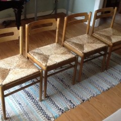 Danish Design Dining Chairs 4er Set Esszimmerstühle Vintage 60er 50er