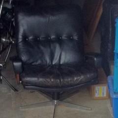Zu verschenken: Strässle King Chair André Vandenbeuck Vintage 70er Ledersessel