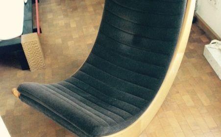 Verner Panton Schaukelstuhl Rocking Chair für Rosenthal 70er Vintage Schaukelsessel