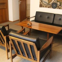 60er Jahre Sofa, Sessel und Tisch vermutlich Knoll Antimott Vintage Design Midcentury Modern