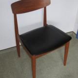 Vier minimalistische Esszimmerstühle Danish Design Teak Dining Chairs Midcentury Modern 60er