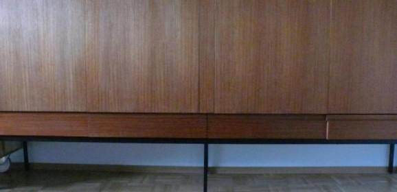 Dieter Waeckerlin für Behr B60 Teak Highboard Sideboard 60er Midcentury Modern Designklassiker