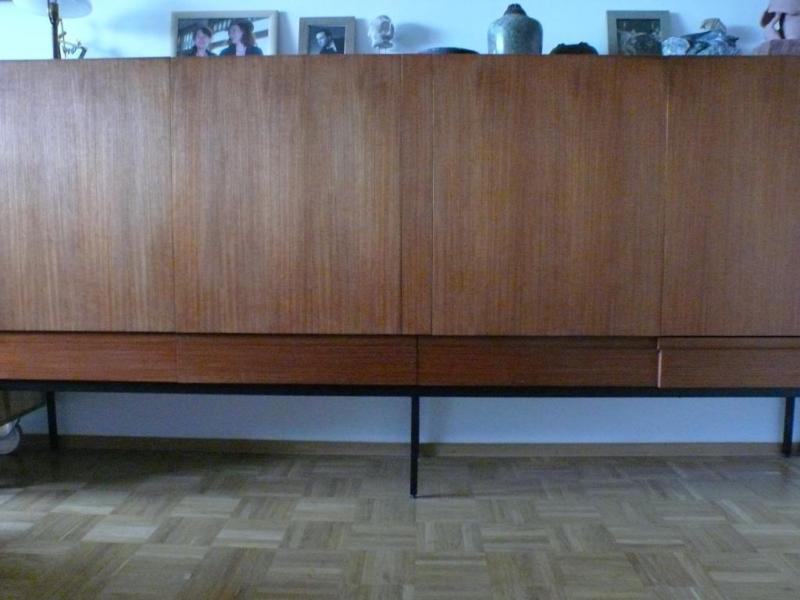 dieter waeckerlin f r behr b60 teak highboard sideboard 60er midcentury modern designklassiker. Black Bedroom Furniture Sets. Home Design Ideas