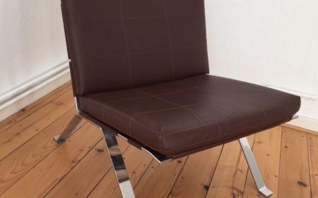 Hans Eichenberger für Girsberger Eurochair 1600 Lounge Chair Ledersessel Barcelona Stil