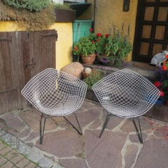Harry Bertoia für Knoll International Diamond Chair Model 421 Midcentury Modern Design