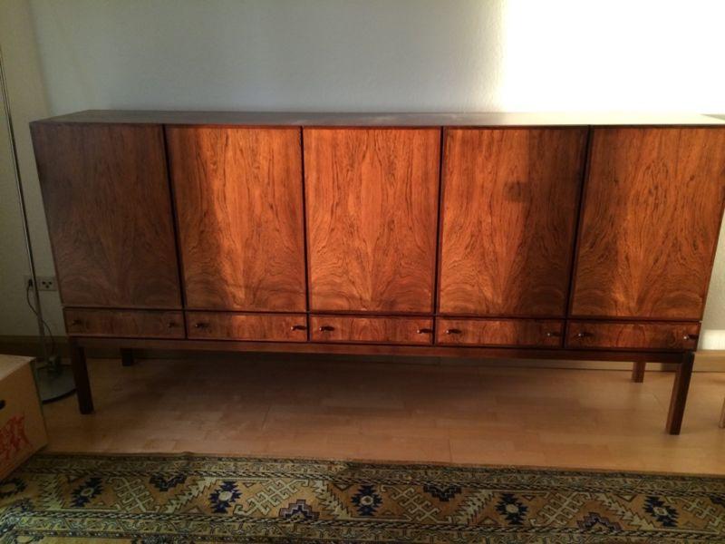 Sideboard Anrichte Kommode Palisander 60er 70er Jahre Midcentury