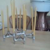 BMF Kerzenständer Kerzenleuchter 5 Elemente Stecksystem Chrom Nagel Quist