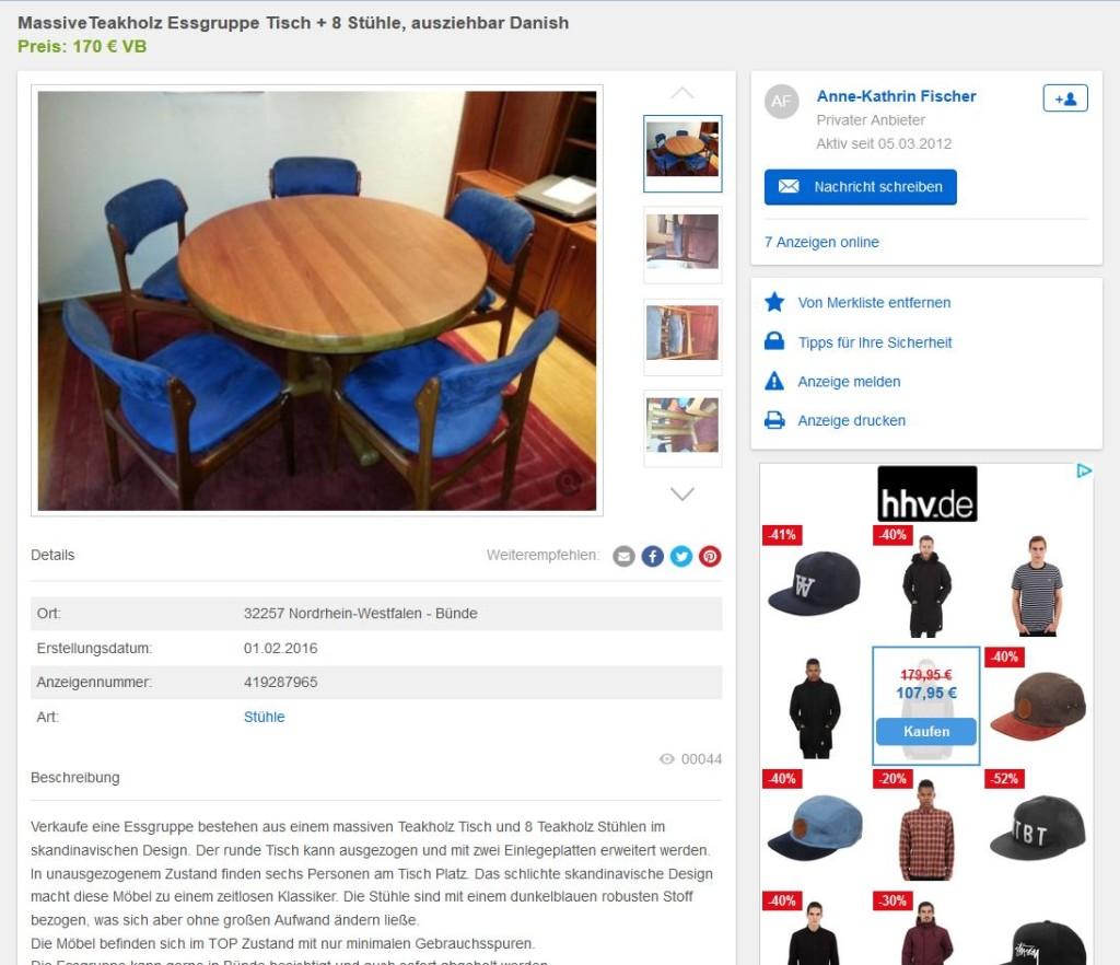 8 esszimmerst hle von erik buck tisch danish design dining chairs mid century modern ebay. Black Bedroom Furniture Sets. Home Design Ideas