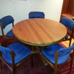 8 Esszimmerstühle von Erik Buck + Tisch Danish Design Dining Chairs Mid Century Modern
