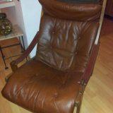 Torbjørn Afdal für Bruksbo Norway Lounge Chair Ledersessel 60er 70er Vintage