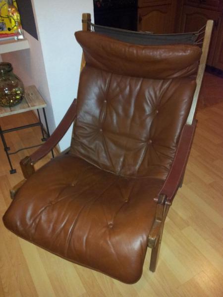 Torbj rn afdal f r bruksbo norway lounge chair ledersessel for Braune ledersessel